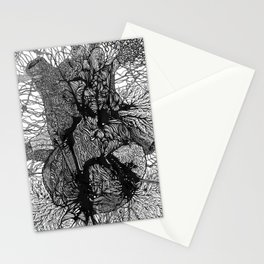 Artificially Organic Heart Stationery Cards