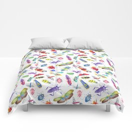 Colorful Bugs and Beetles Collection Comforters