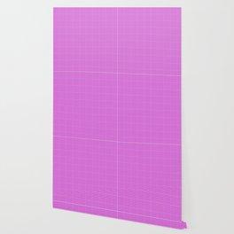 Fuchsia or Magenta Gingham Wallpaper