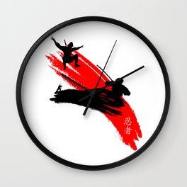 Ninjas Wall Clock