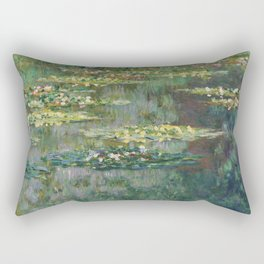 Water Lilies 1904 by Claude Monet Rectangular Pillow