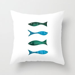 Fishes and Sea Throw Pillow