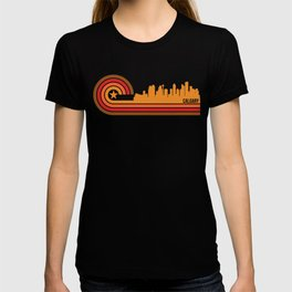 Retro Style Calgary Alberta Canada Skyline T-shirt