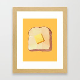 Toast with Butter polygon art Framed Art Print
