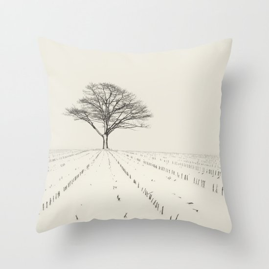 Winter Field Throw Pillow