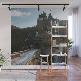 Fairytale Castle in a winter forest in Germany - Landscape and Architecture Wall Mural