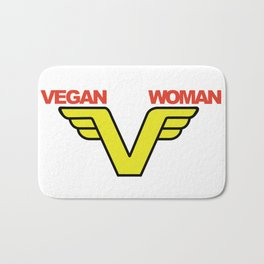 Vegan woman 1-02 Bath Mat