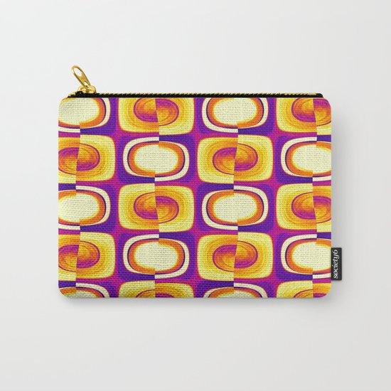 retro pattern yellow,purple,orange Carry-All Pouch