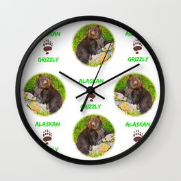 GRIZ  Pattern Wall Clock