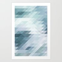 polygon Art Prints featuring Polygon by Boho déco