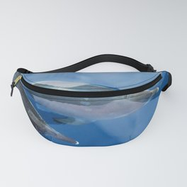 Dolphins and human shadows Fanny Pack