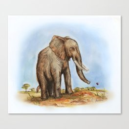 The Majestic African Elephant Canvas Print