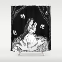 snow white Shower Curtains featuring Snow White by Megan