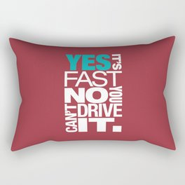 Yes it's fast No you can't drive it v2 HQvector Rectangular Pillow