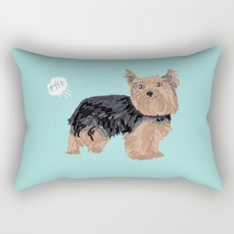 yorkie funny farting dog breed pure breed pet gifts yorkshire terrier Rectangular Pillow