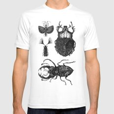 Insects White Mens Fitted Tee SMALL