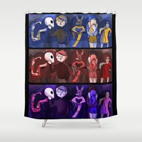 shakespeare Shower Curtains featuring Shakespeare Kids by Louisa Lawler