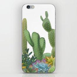 Milagritos Cacti on white background. iPhone Skin