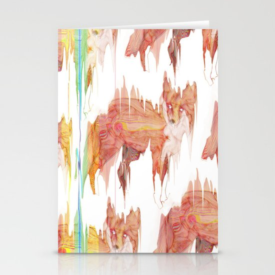 Remix Red Fox Stationery Cards