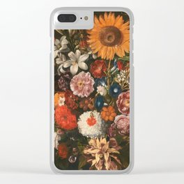 Hiepes  Tomas - Vase Of Flowers With A Triumphal Chariot Seen In Profile Clear iPhone Case