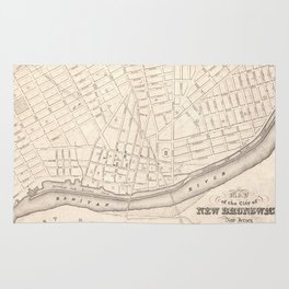 Vintage Map of New Brunswick NJ (1837) Rug