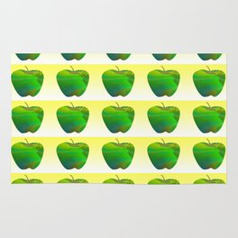 Fresh Green Apple Pattern Rug