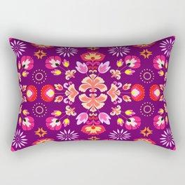 Fiesta Folk Purple #society6 #folk Rectangular Pillow