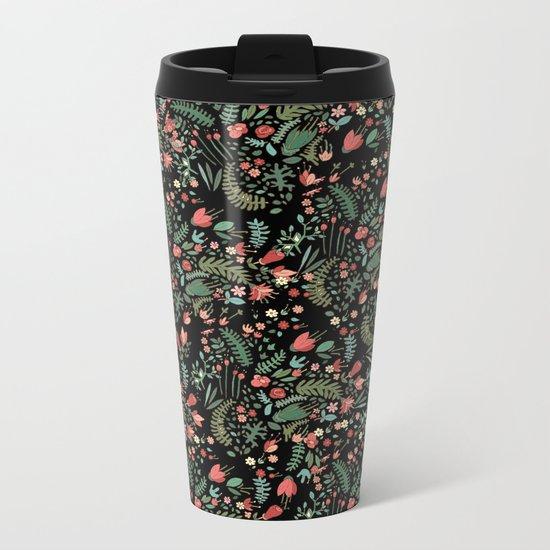 black garden Metal Travel Mug