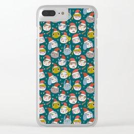 Pattern Project / Little Santas Clear iPhone Case