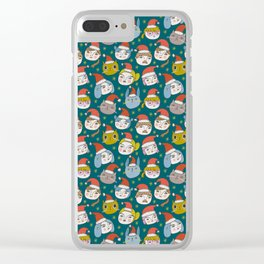 Pattern Project / Little Santas Clear iPhone Case