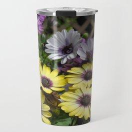 Yellow and Purple African Daisies Travel Mug