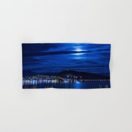 Everything That He Sees is Blue, A Painting by Jeanpaul Ferro Hand & Bath Towel