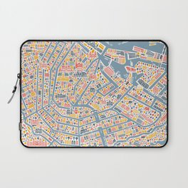 Amsterdam City Map Poster Laptop Sleeve