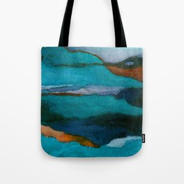 """""""a dark february redux1"""" abstract watercolor painting Tote Bag"""