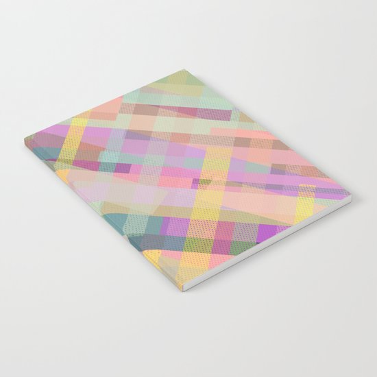 Colorful Square Pattern Notebook