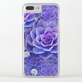 """""""Bouquet of pastel violet exotic succulents"""" Clear iPhone Case"""