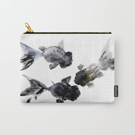 Black Moor, Feng Shui Koi Fish Art Carry-All Pouch