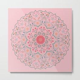 Flower Rounds Mandala Metal Print