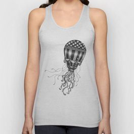 Jellyfish Air Balloon Unisex Tank Top