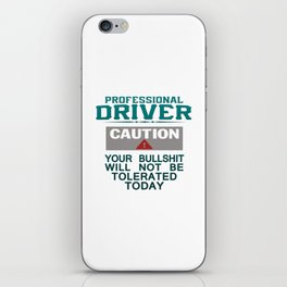 Truck Driver Safety iPhone Skin