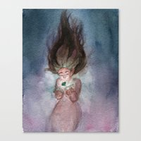 magical girl Canvas Prints featuring Magical Girl  by Alisa Klump