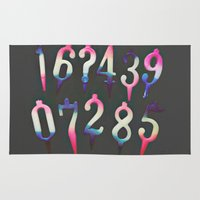 numbers Area & Throw Rugs featuring Numbers! grey by gasponce