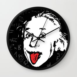 Silly Wisdom - Albert Einstein Wall Clock