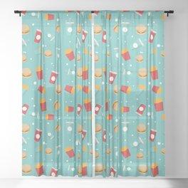 Burgers pattern Sheer Curtain