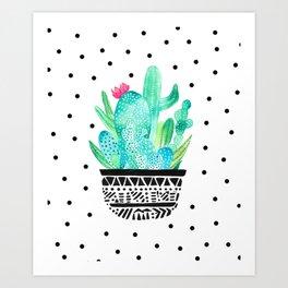 Pot Me A Cacti! Dots Art Print