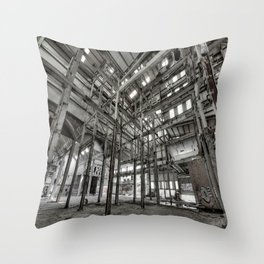 Metallic Structures Throw Pillow