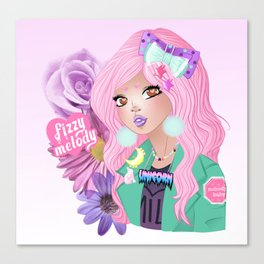 bishoujo girl gang unicorn queen Canvas Print