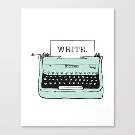 TYPE{WRITE}R Canvas Print