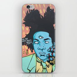 STUCK ON DREAMS (Basquiat) iPhone Skin