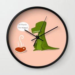 No thanks, I'm vegan Wall Clock